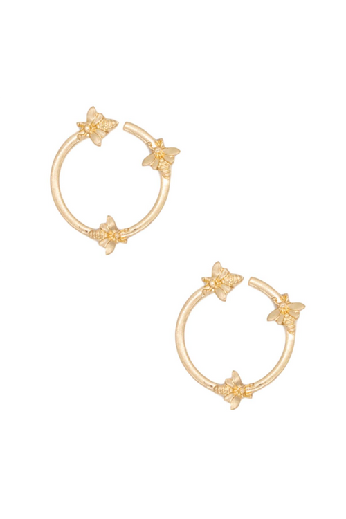 BEE DETAIL HOOPS