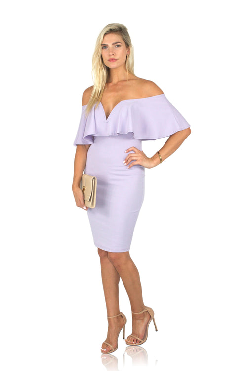 PRIMPED DRESS IN LAVENDER