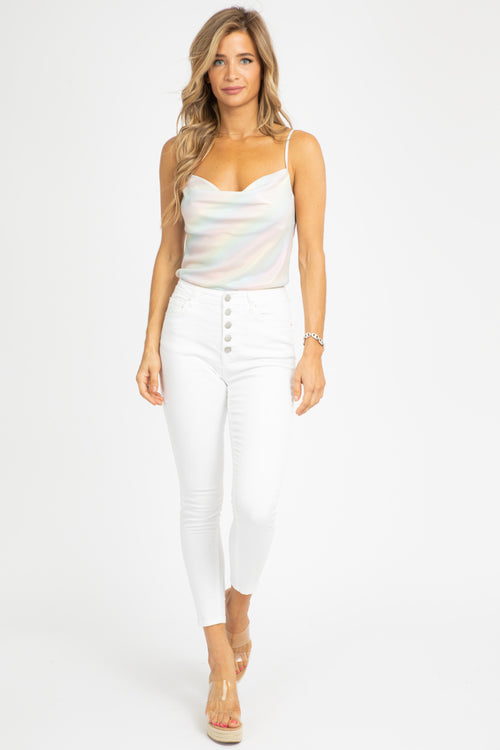 RAINBOW GRADIENT SILK TANK