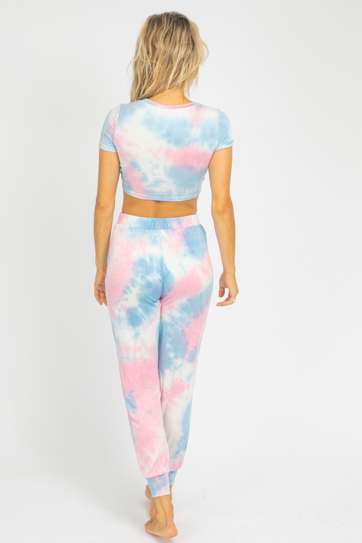 PINK + DENIM TIEDYE TWIST SET