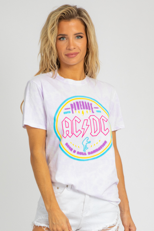 PURPLE ACDC GRAPHIC TEE