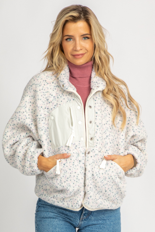 DOTTED SHERPA SNAPBUTTON JACKET