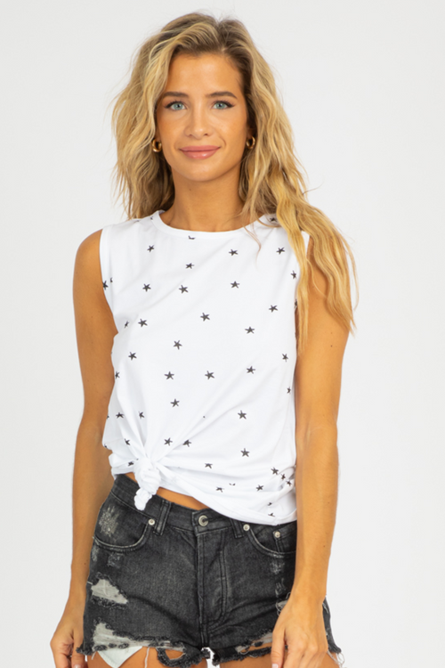 STAR PRINT RELAXED TANK