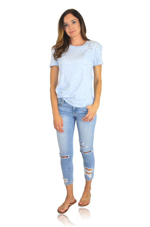 SPLAT TEE IN BLUE
