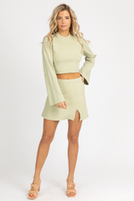 SAGE BELLSLEEVE KNIT SET