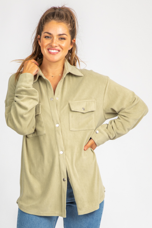SAGE FLEECE SHIRT JACKET