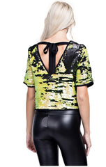 BUZZED BOW CROP TOP / FINAL CLEARANCE