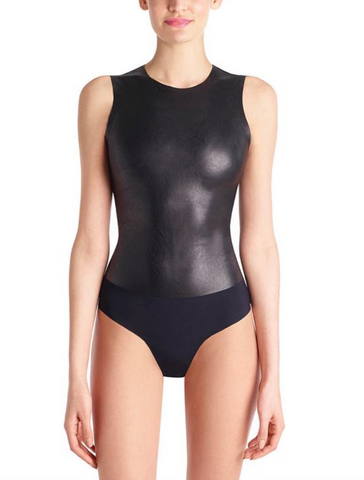 SQUARE NECK BLACK BODYSUIT