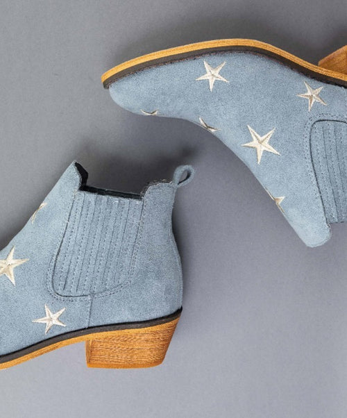 BLUE SUEDE STAR BOOTIES / FINAL CLEARANCE