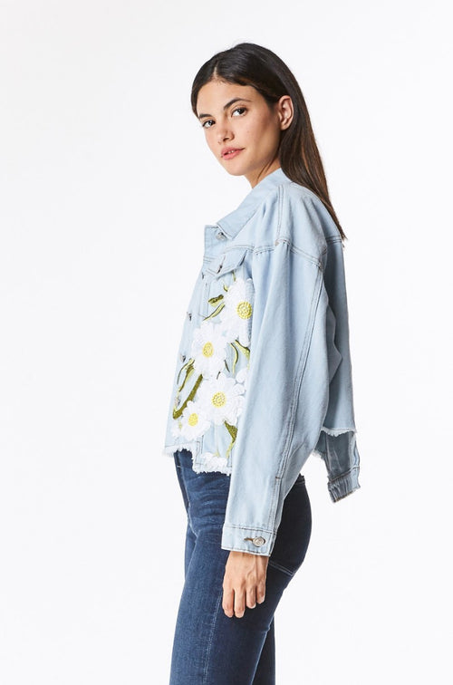 DENIM DAISY PATCH JACKET