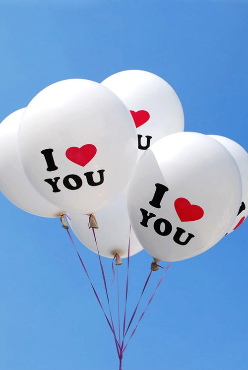 I HEART YOU BALLOONS