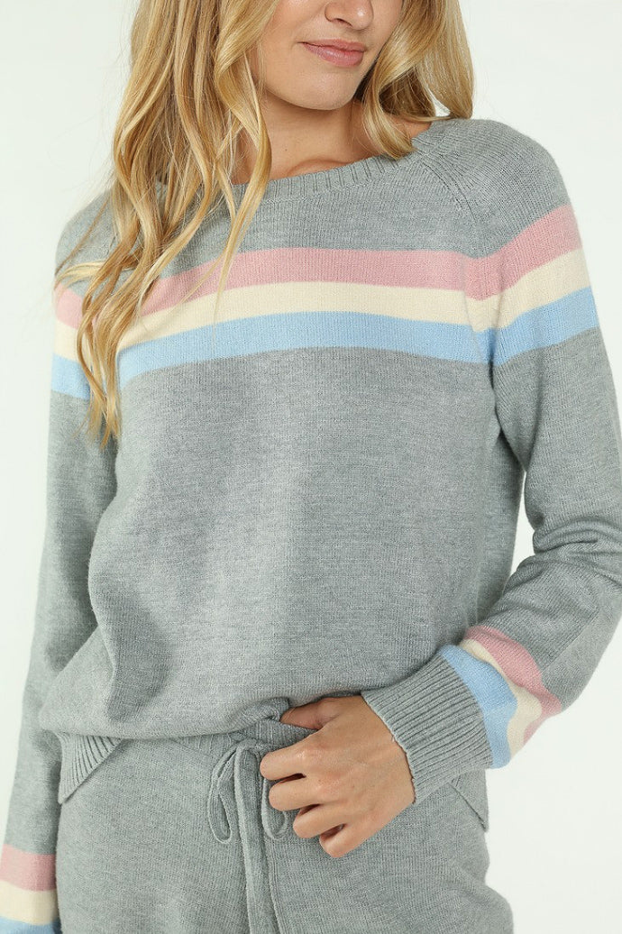 RAINBOW CREW NECK SWEATSHIRT