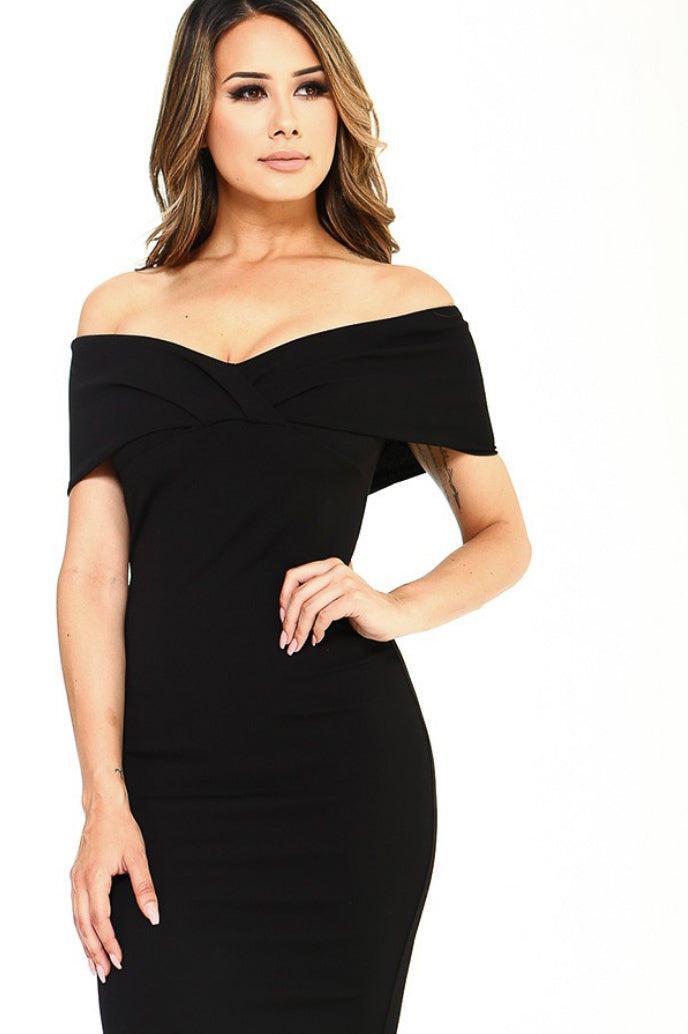 OFF THE SHOULDER LBD / FINAL CLEARANCE