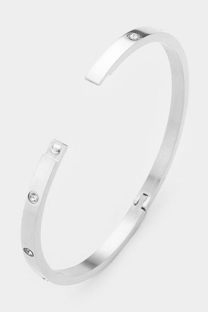 HINGED BRACELET IN SILVER