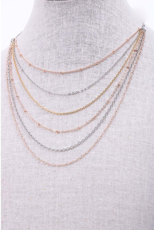 MULTI METAL LAYERED NECKLACE