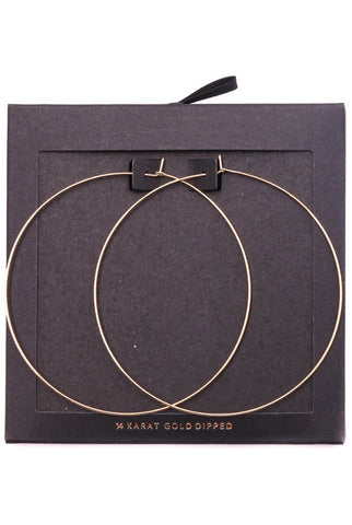 HOOP AND PEARL EARRINGS