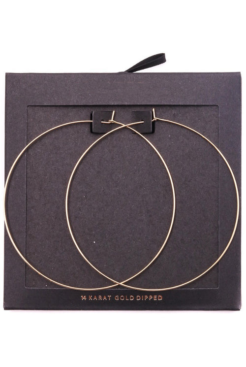ULTRA THIN GOLD DIPPED HOOPS