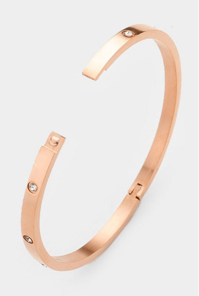 HINGED BRACELET IN ROSE GOLD