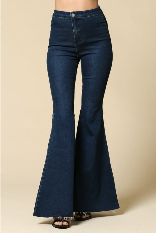 HIGH QUALITY SUPER FLARE BELL BOTTOM JEANS