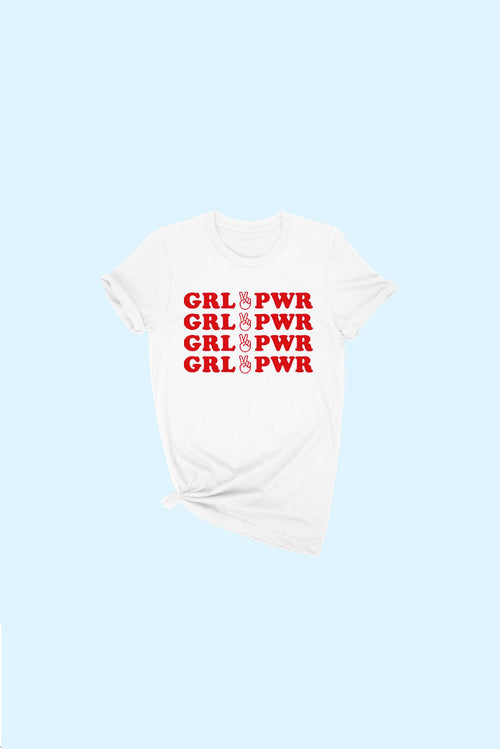 GRL PWR TEE  (multiple colors) / FINAL CLEARANCE