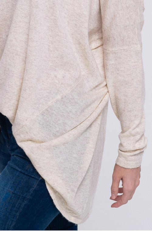 SLOUCH SWEATER IN CREAM