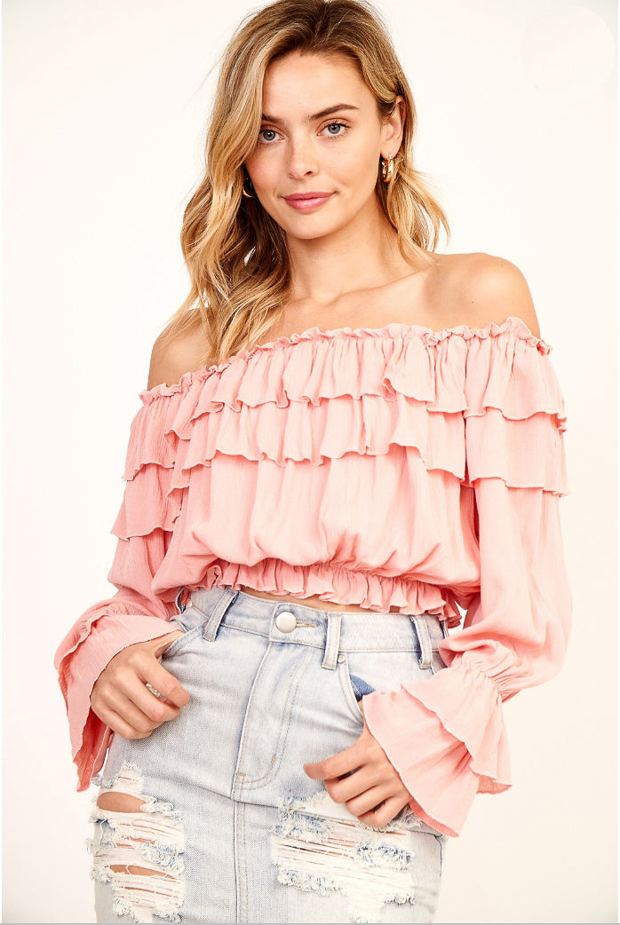 CARNATION RUFFLE TOP