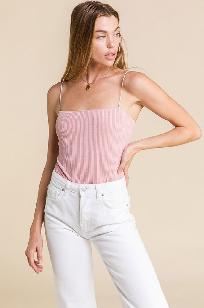 DUSTY PINK STRAPPY BODYSUIT