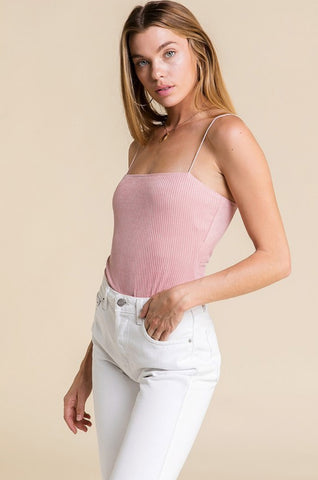 RIBBED CROP TANK IN IVORY