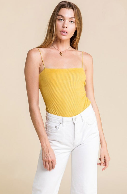 MUSTARD BODYSUIT / FINAL CLEARANCE