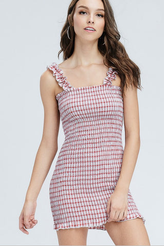 MESH POLKA DOT DRESS