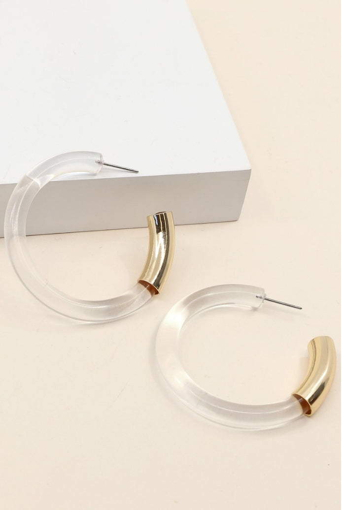 CLEAR LUCITE HOOPS