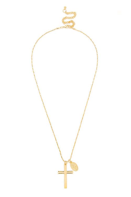 CROSS PENDANT GOLD NECKLACE
