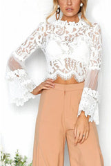 LACE BELL SLEEVE TOP / FINAL CLEARANCE