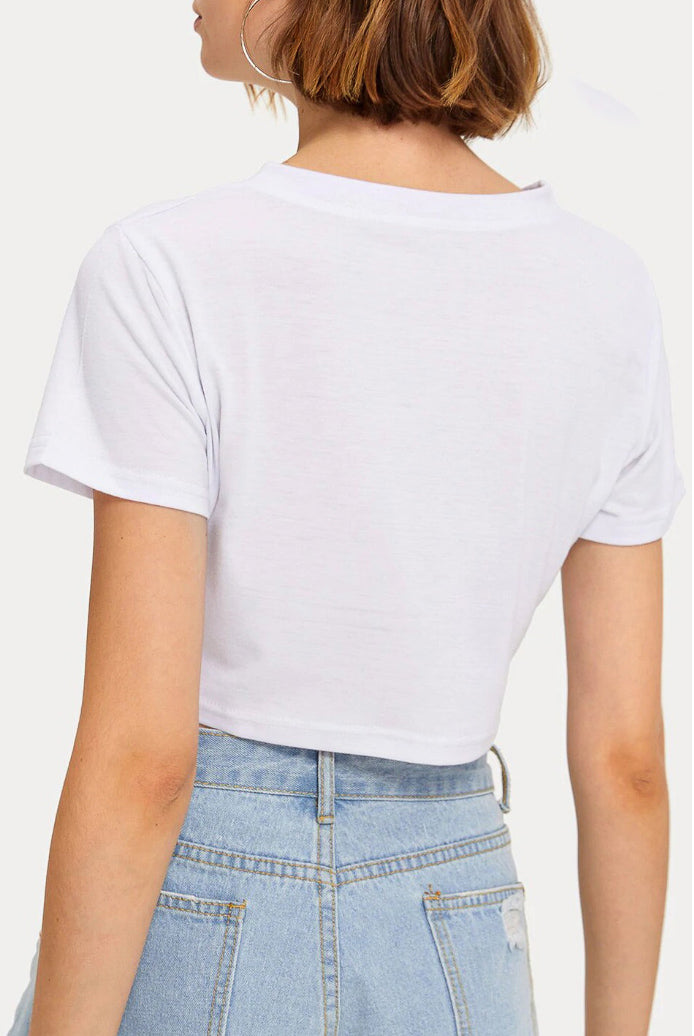 HELLO GRAPHIC CROPPED TEE