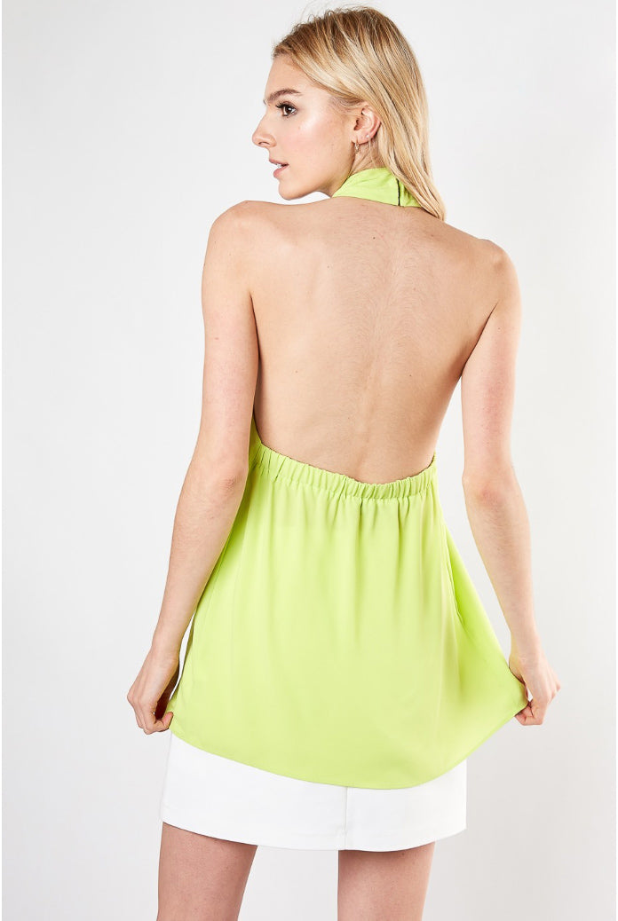 LIME HALTER TOP