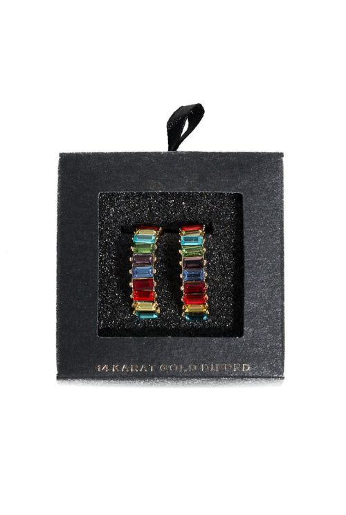RAINBOW BAGUETTE EARRINGS