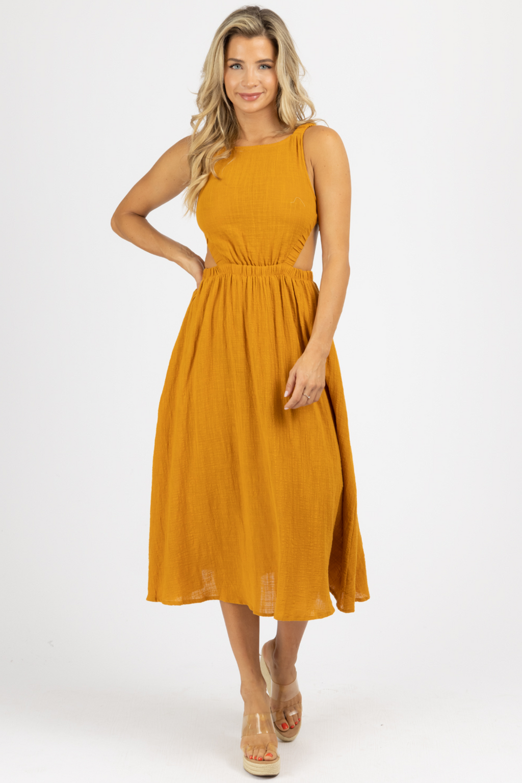 SIENNA BACKLESS MIDI DRESS
