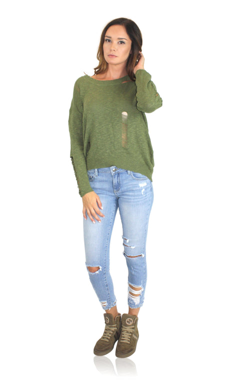 TARA SWEATER IN SAGE