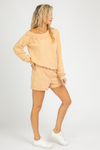 TAN OFF SHOULDER LOUNGE SET