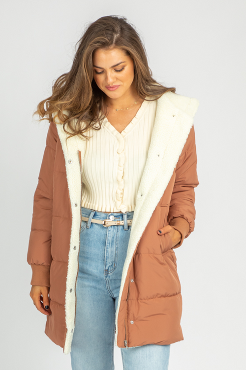 TERRACOTTA SHERPA COAT