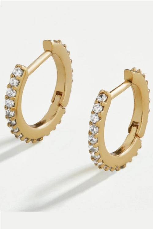 THIN GOLD JEWEL HOOPS
