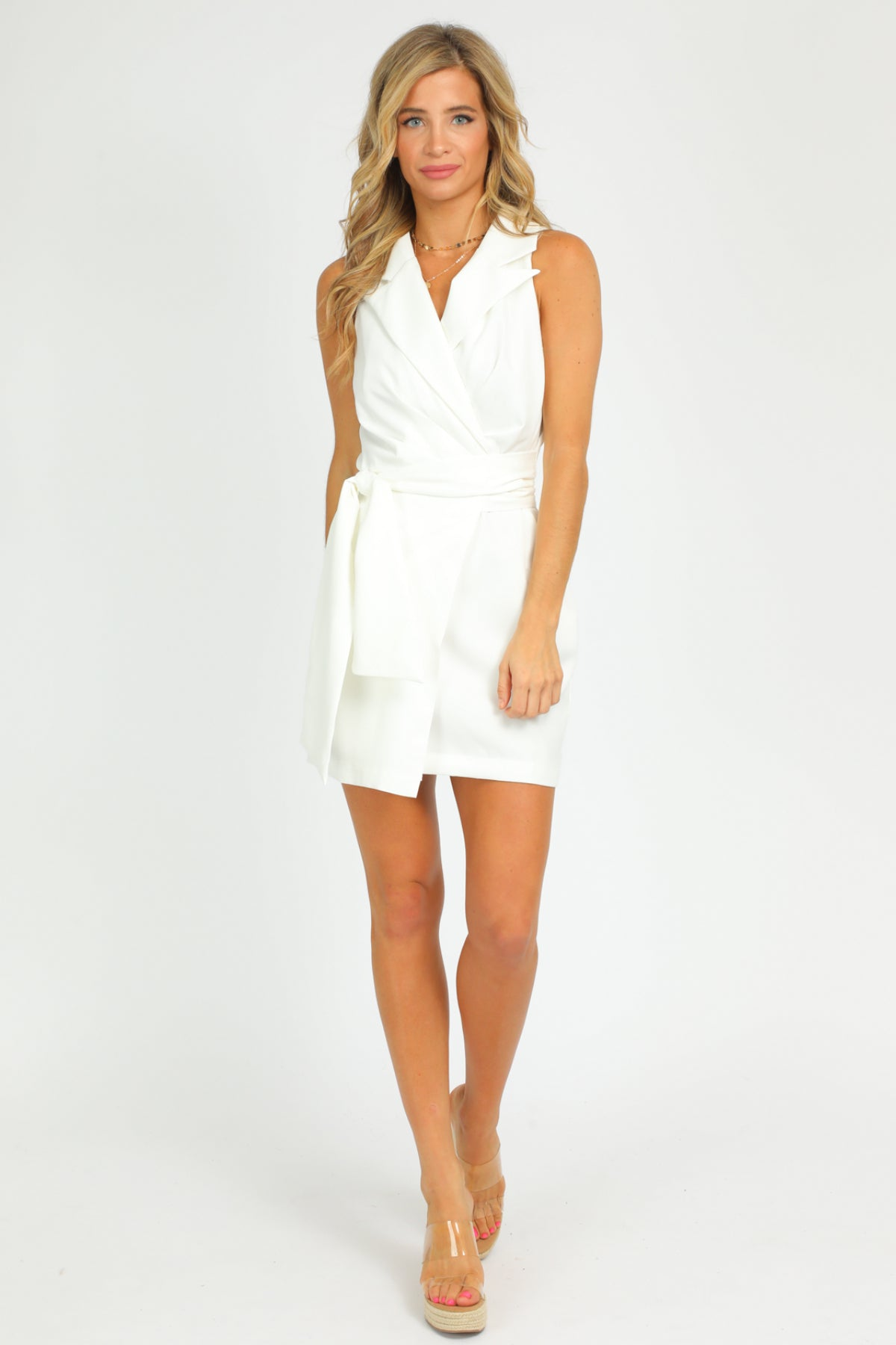 LAPEL MINI DRESS