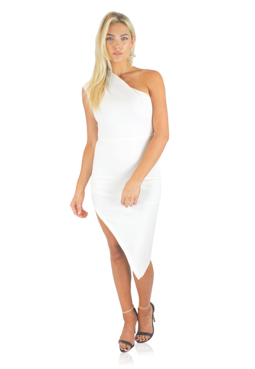 BABY SPICE DRESS IN WHITE / FINAL CLEARANCE