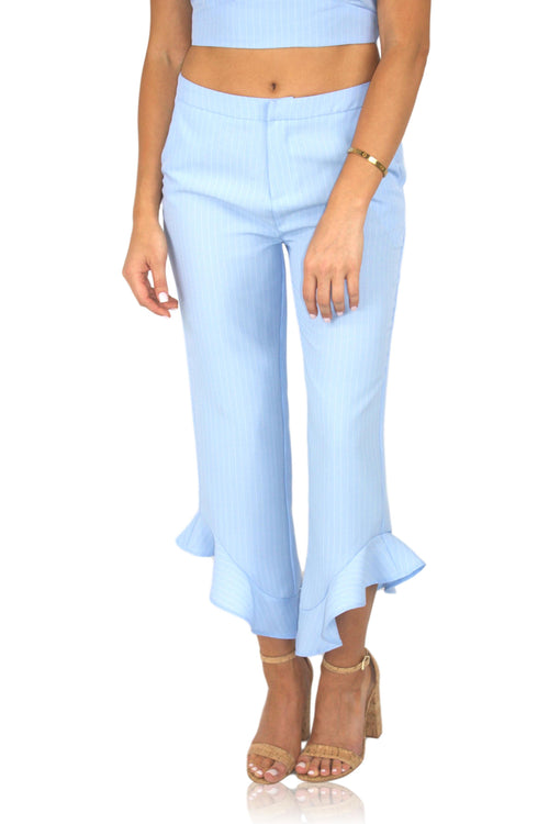 CHEAP FRILLS PANT IN BLUE