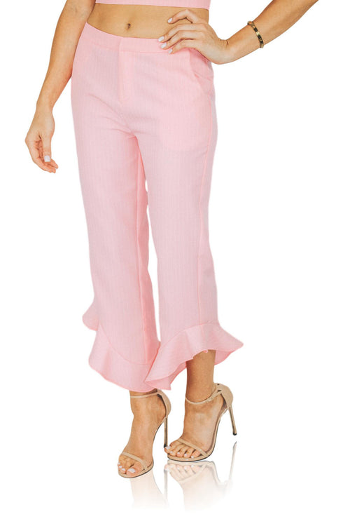 CHEAP FRILLS PANT IN PINK