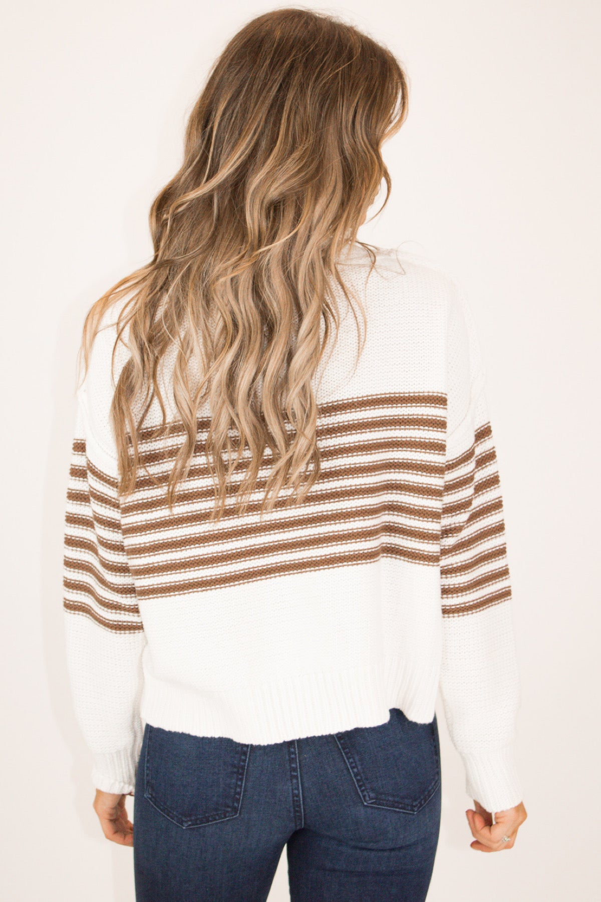 COCOA STRIPED DOLMAN SWEATER