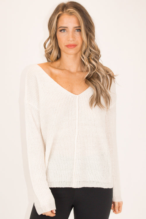 OUTSEAM KNIT TOP IN IVORY