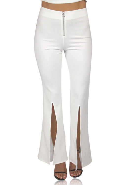 FLARE IT OUT PANT IN WHITE