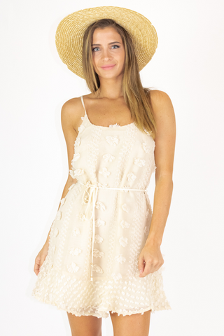 WHITE LACE SHORT SLEEVED MIDI DRESS