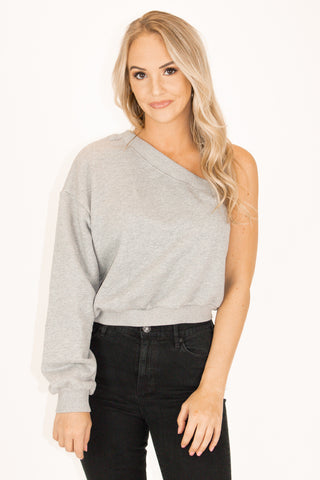 IVORY DRAWSTRING KNIT TOP